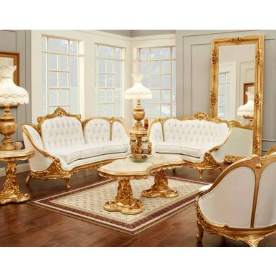 Polrey 634 Set Set Includes Sofa Love Seat And Armchair Gold Living Room Victorian Living Room Furniture Gold Living Room Decor