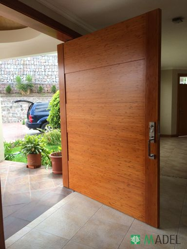 Puerta principal puertas en 2019 pinterest for Puertas de entrada de madera modernas