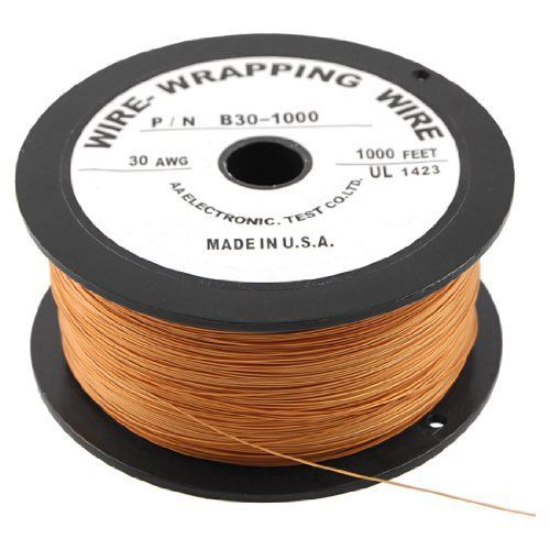 Amico Pcb Soldering Brown Flexible 0 25mm Core Dia 30awg Wire Wrapping Wrap 1000ft By Amico 24 33 Features Flexible And Insulation Wire Wrapping Soldering Electrical Wiring