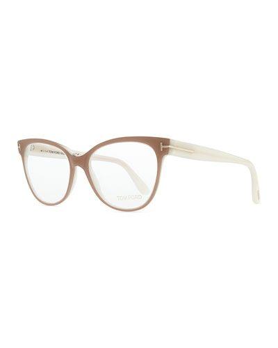 874208bcdee D0QEN Tom Ford T-Temple Cat-Eye Fashion Glasses