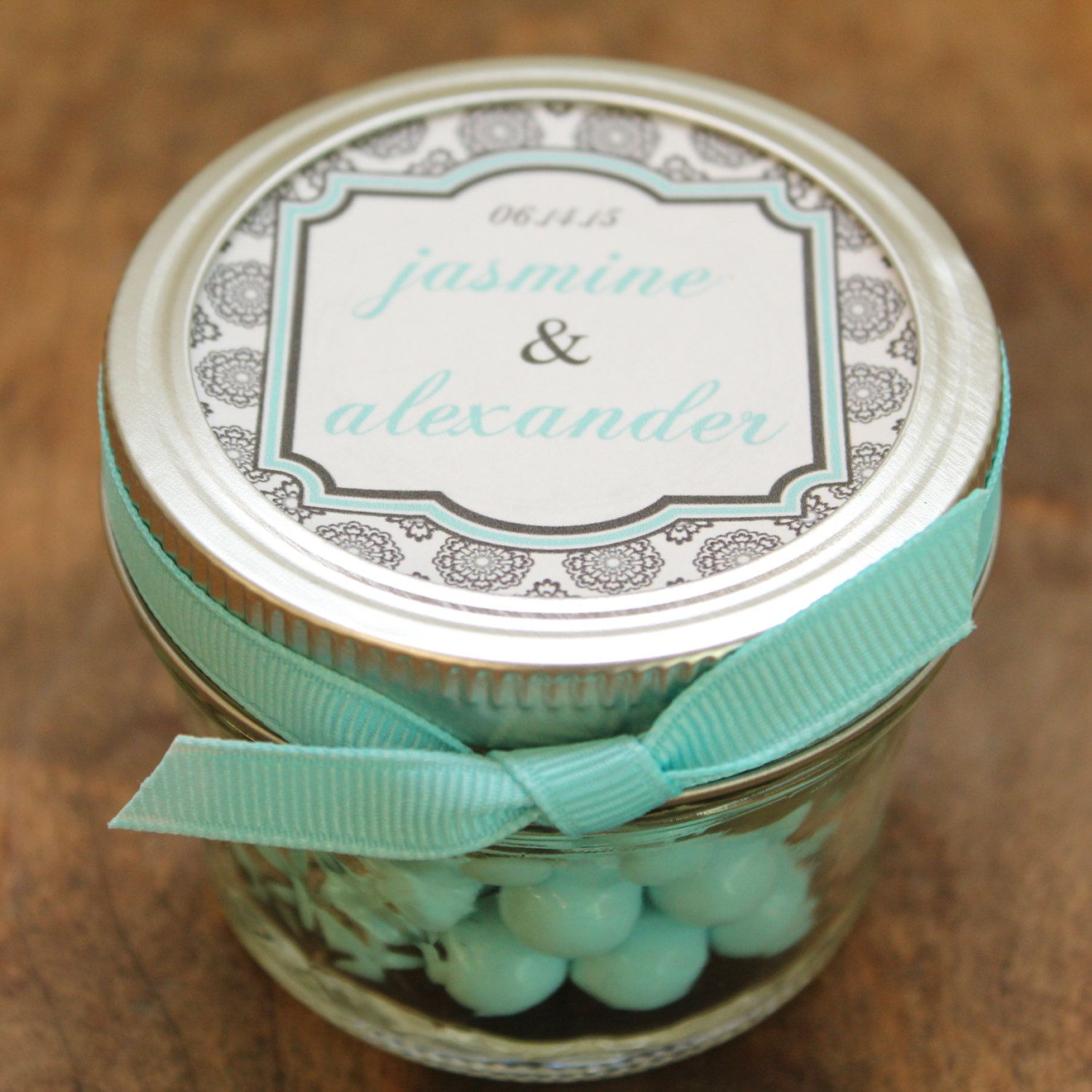 Set of 24 4 oz Mason Jar Wedding Favors West by thefavorbox, $66.00 ...