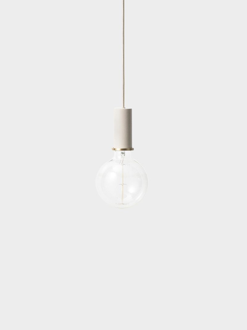 Design your own lamp with ferm LIVING Collection Lighting. The socket pendant comes complete with a decorative brass ring, canopy and more.