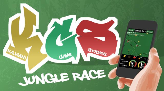 Jungle Race. Jungle Race on ulkoilu- ja liikuntapeli, jota pelataan älypuhelinsovelluksen avulla. Sovellus näyttää lähiympäristösi kartalla liikkuvia hedelmiä, jotka käyt nappaamassa kulkemalla kartan näyttämälle paikalle.