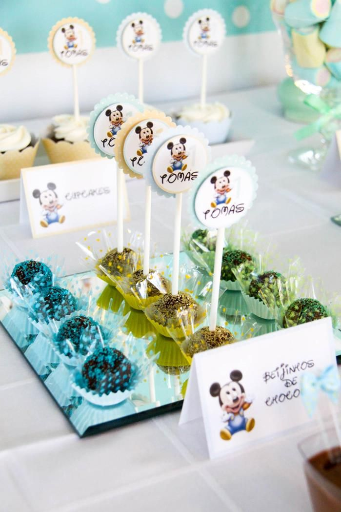 Baby Mickey First Birthday Party {Ideas, Supplies, Ideas ...
