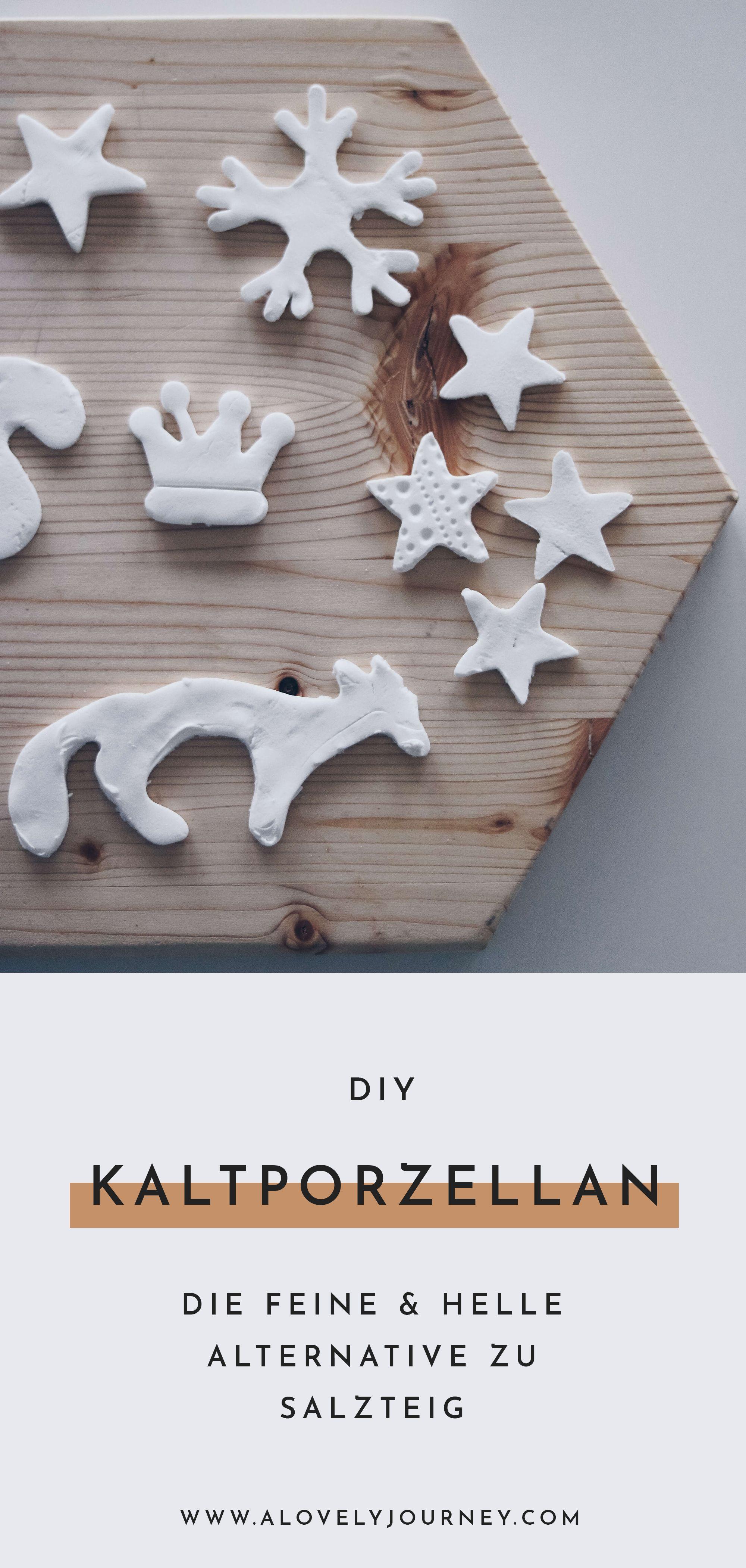 Basteln im Advent: Kaltporzellan selbst machen mit 3 Zutaten #weihnachtsbastelnmitkindernunter3