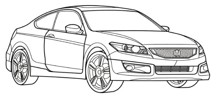 Honda Accord Coupe Coloring Page Cars Pages
