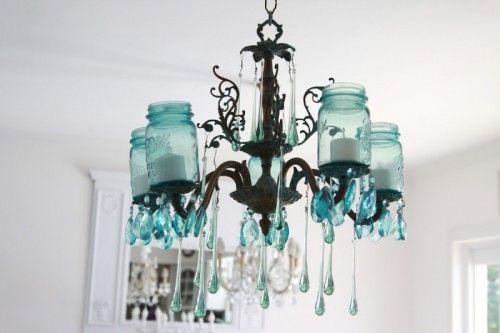 Mason Jar chandelier anyone?