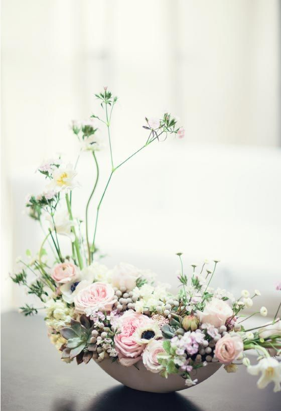 Modern Japanese Inspired Styled Shoot Utterly Engaged Flower Arrangements Beautiful Flower Arrangements Modern Flower Arrangements