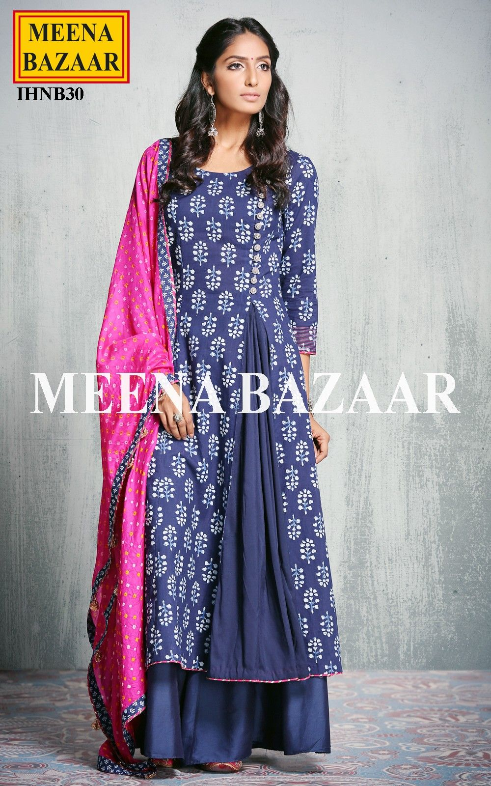 02d4c3f116 Blue Cotton Palazzo suit @ MeenaBazaar | dress differently | Palazzo ...
