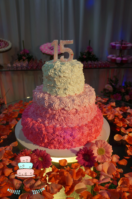 Bolo 15 Anos Bolo Rosas Bolo Rosa Bolo 3 Andares Cake Pink