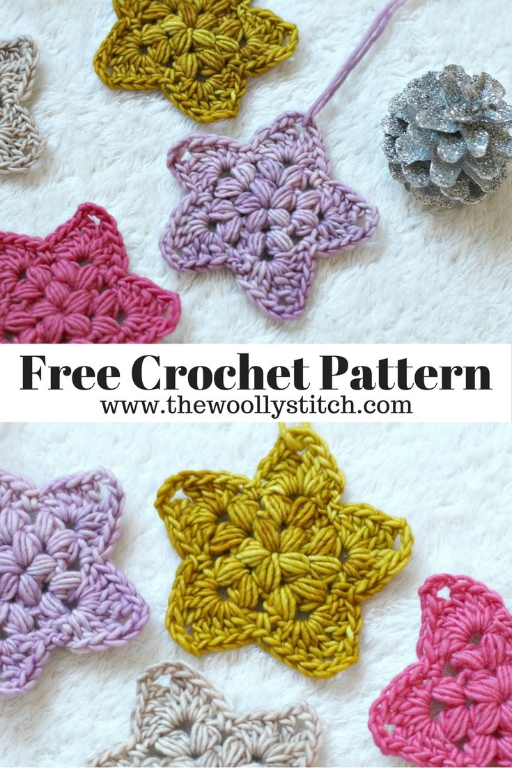 Crochet Star Ornament Pattern - Free Crochet Pattern | crochet ...