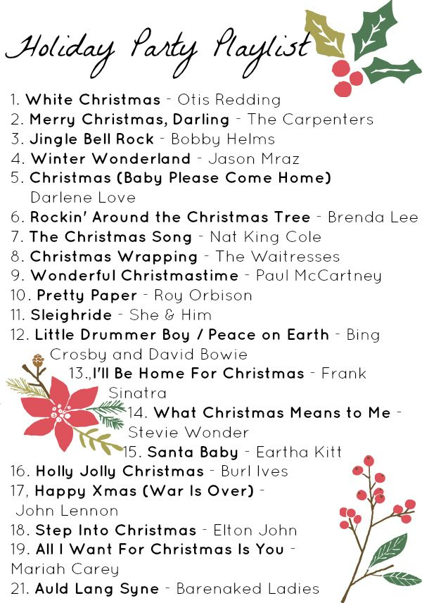 Free printable holiday playlist + more Christmas songs on YouTube ...