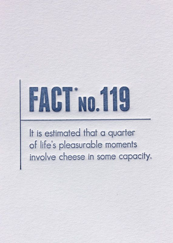 Made Up Stats Cheese Letterpress Card 4 50 Via Etsy Funny Quotes Words Wise Words