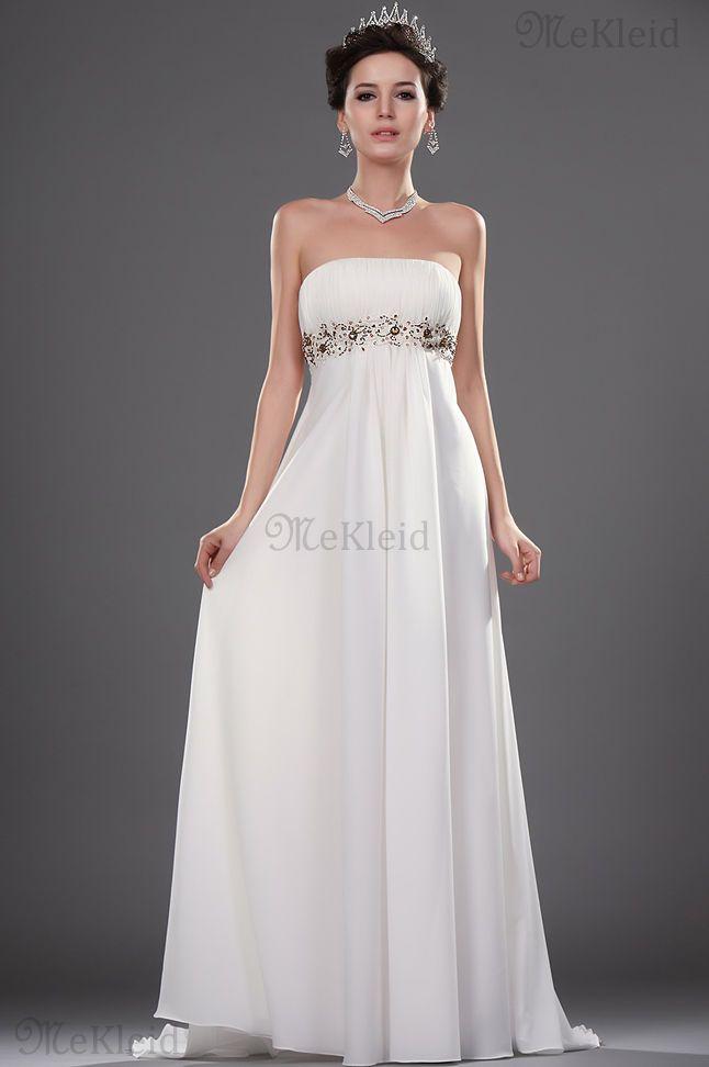 Perlenstickerei Luxuriös Herz-Ausschnitt Meerjungfrau Stil Trägerlos Brautkleid - Bild 1
