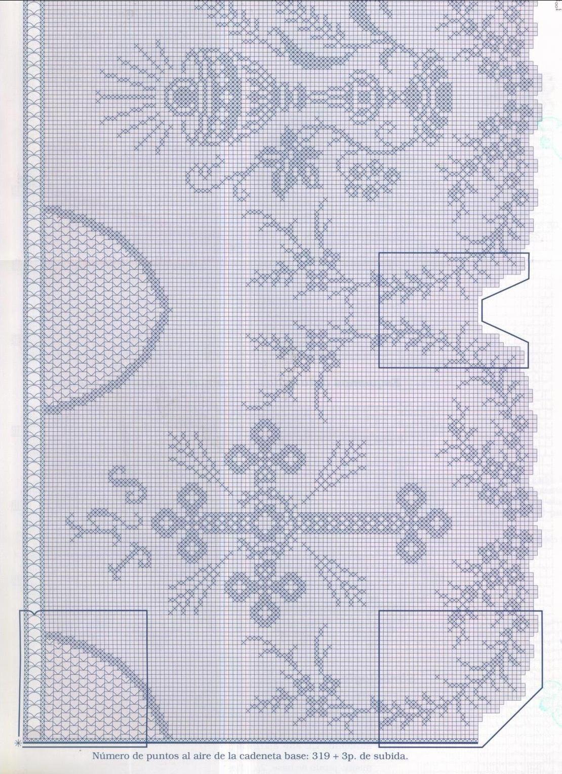 Diagrama Puntilla 1 | Crochet | Pinterest | Crochet, Filet crochet y ...