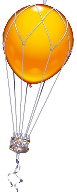 Deko-Set: Heißluftballon inkl. 2 Ballons, Netz und Gondel ...