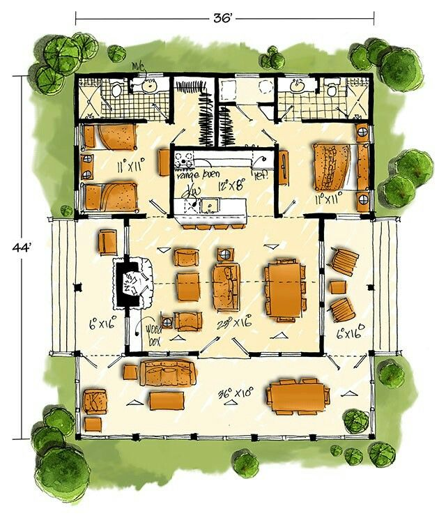 Southern Living New Bunkhouse Plan Vacation House Plans Southern Living House Plans House Plans