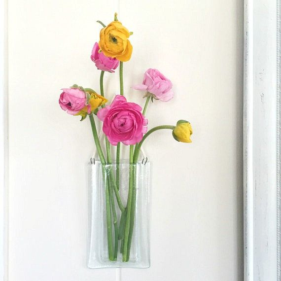 Fused Glass Wall Pocket Vase My Glass Creations Pinterest
