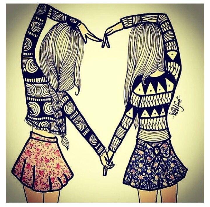 Best friends heart drawing love pinterest drawings for Best friend drawings ideas