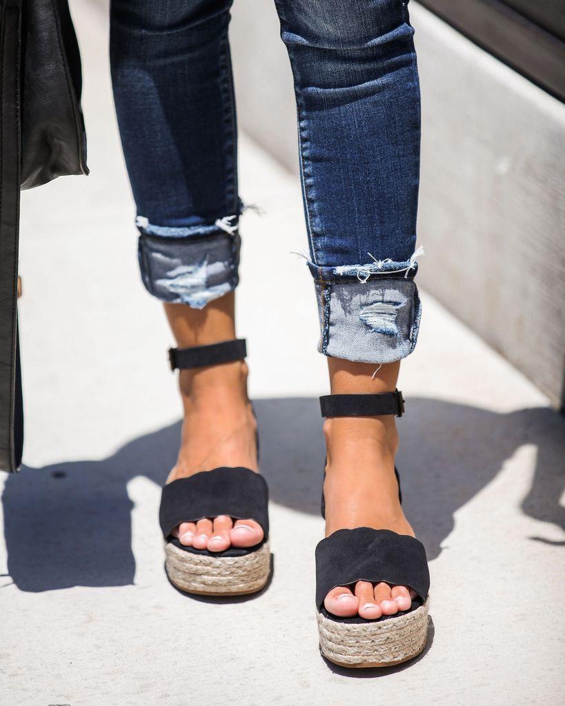 dfc799601da Makenzie Espadrille Sandals - Black in 2019 | Style + super cute ...