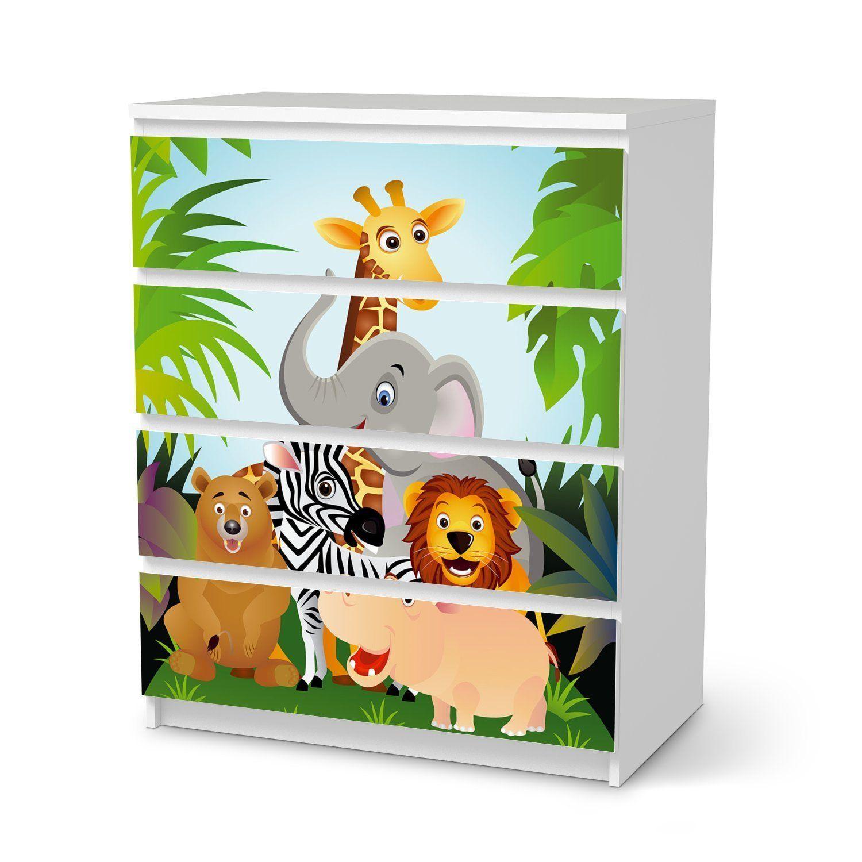 🐵Dschungelzimmer   Jungle Room   Möbel-Tattoo für IKEA Malm 6 ...