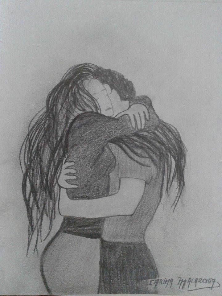 Abrazo Desde El Alma Dibujo A Lapiz Carina Malarchia Lapiz Dibujos Arte