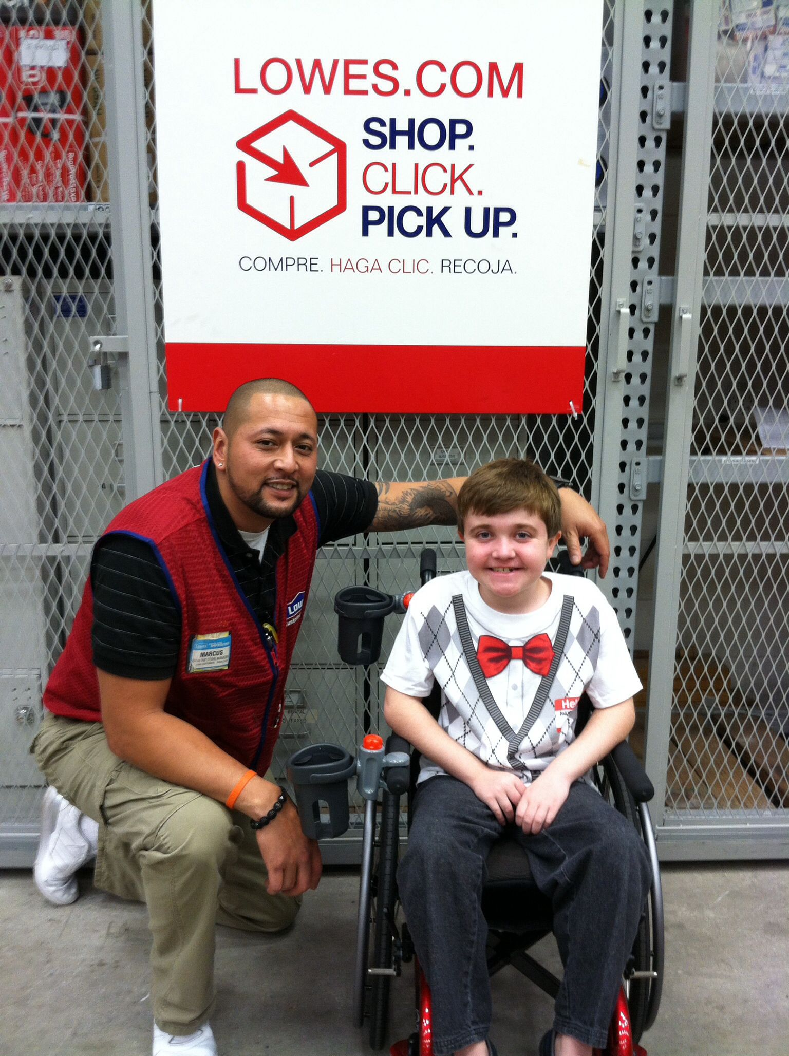 anthony visited lowes in winter garden florida to thank the