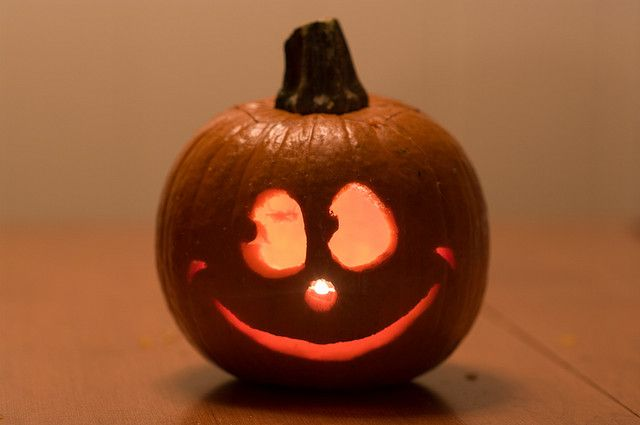 Happy Face Jack O Lantern For The Home Pumpkin Carving Pumpkin