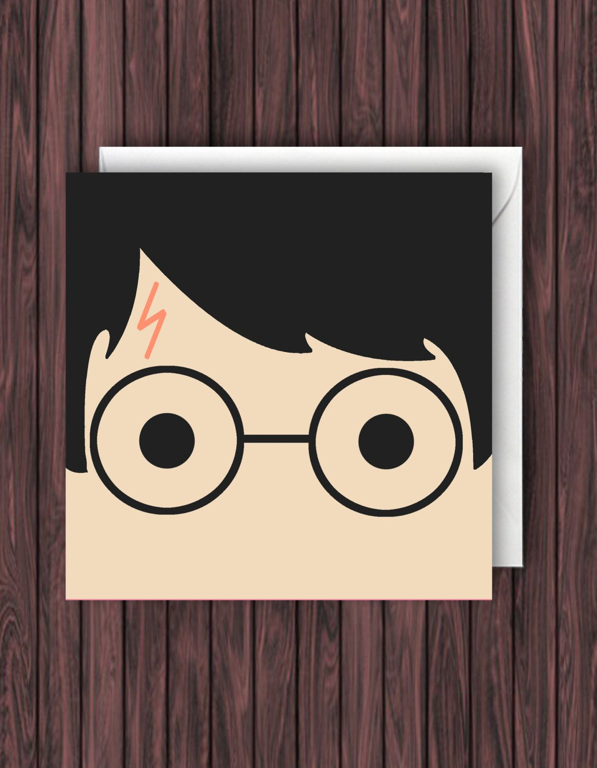 Harry potter birthday card greetings card blank card by - Harry potter basteln ...