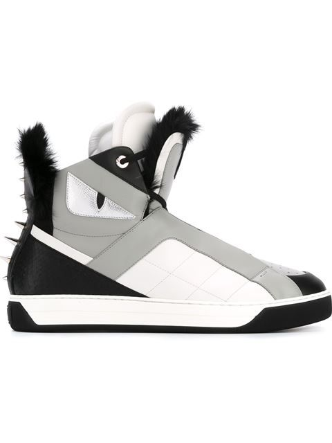 246cbb39 FENDI Bag Bugs Hi-Top Sneakers. #fendi #shoes #sneakers | Watch Game ...