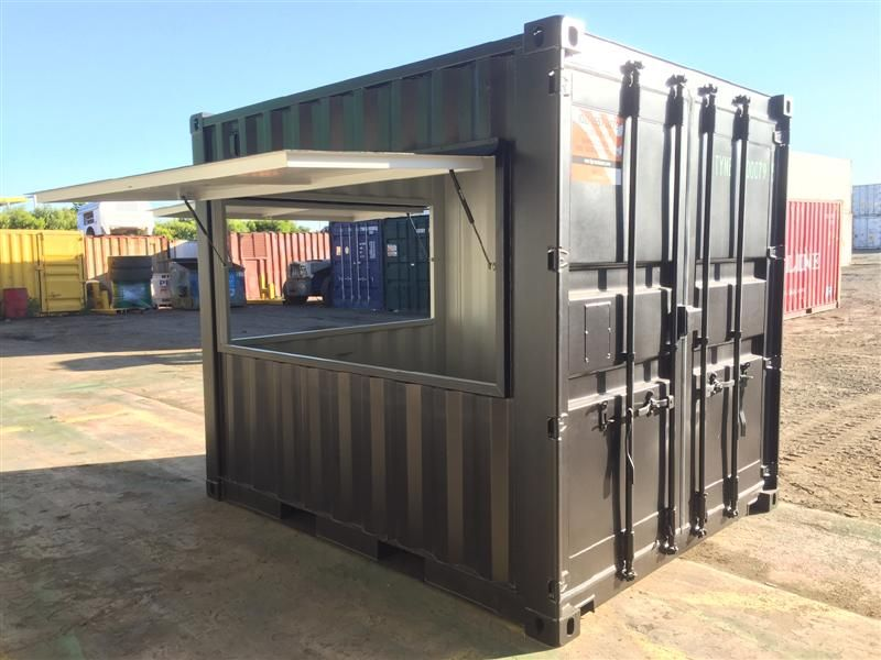 Caf made from 10ft Shipping Container - Tiger Containers