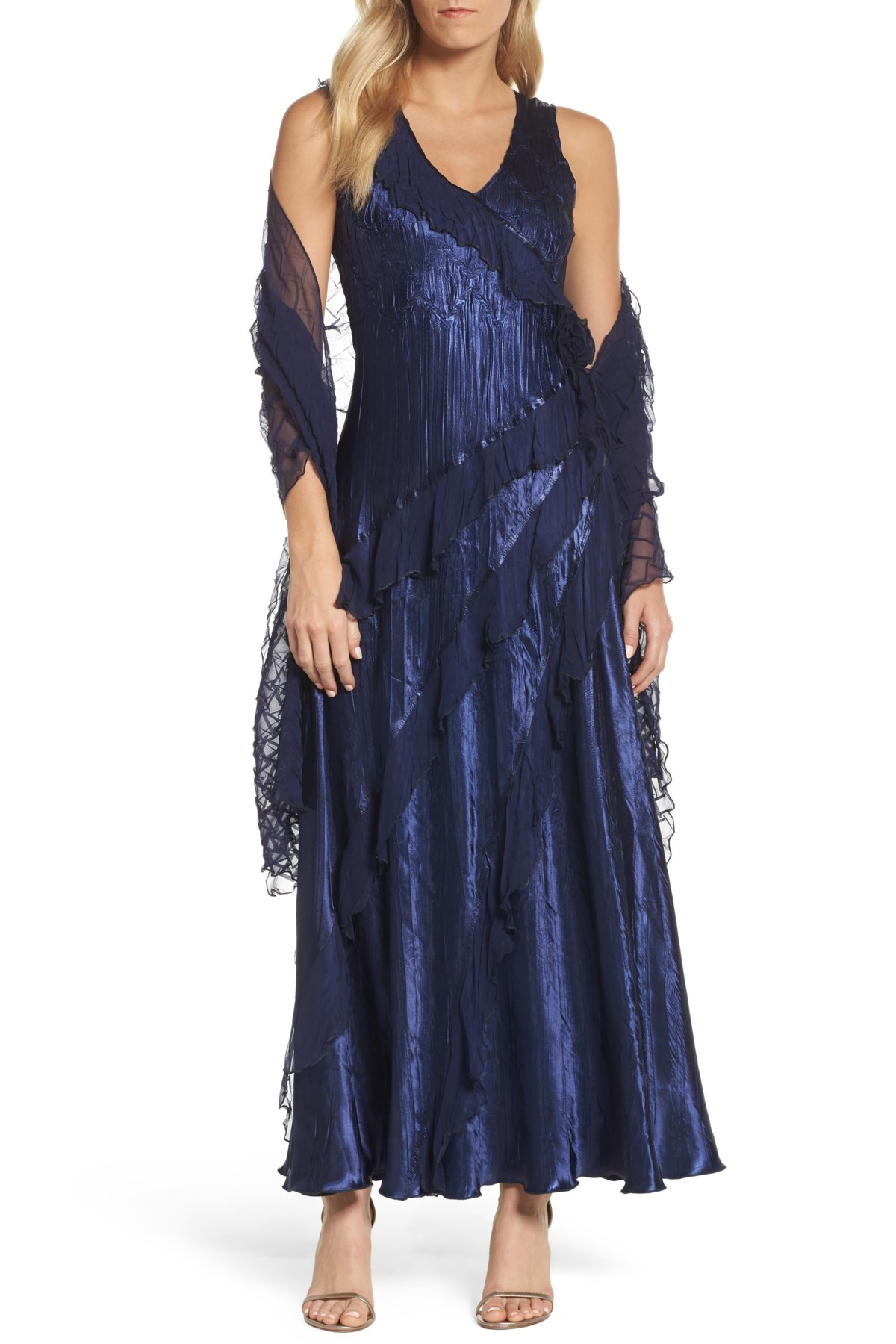 Ruffle maxi dress with wrap products pinterest maxi dresses