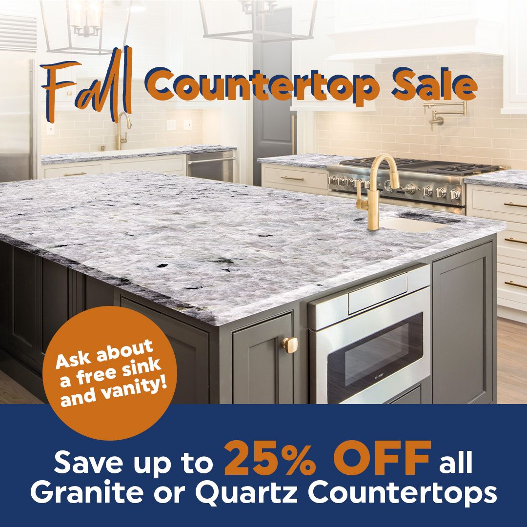 Fall Countertop Sale Up To 25 Off In 2020 Countertops Quartz Countertops Kitchen Remodel
