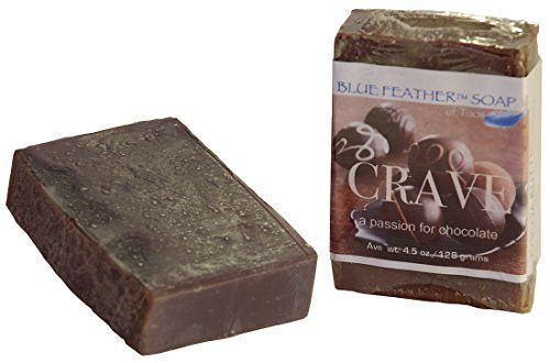 Crave Chocolate Handcrafted Soap with Premium White Oak Soap Deck, Bundle of 2 Items