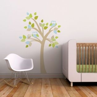 Tree with Owls Wall Decal - Trendy Peas