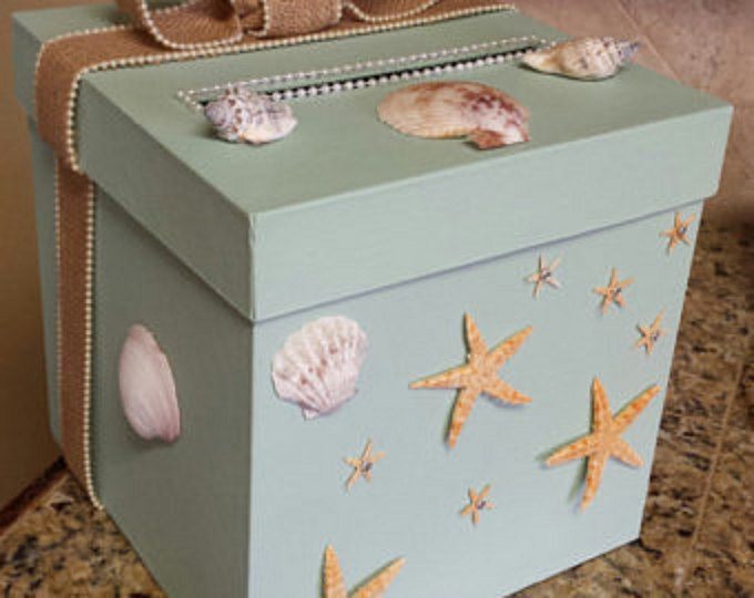 Best Wedding Gifts Under 100: Beach Themed Two Tier Money Card Gift Box Perfect For A