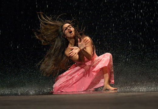 Sadler's Wells Theatre - Tanztheater Wuppertal Pina Bausch - Two Cigarettes in the Dark / Vollmond (Full Moon). Feb 2013