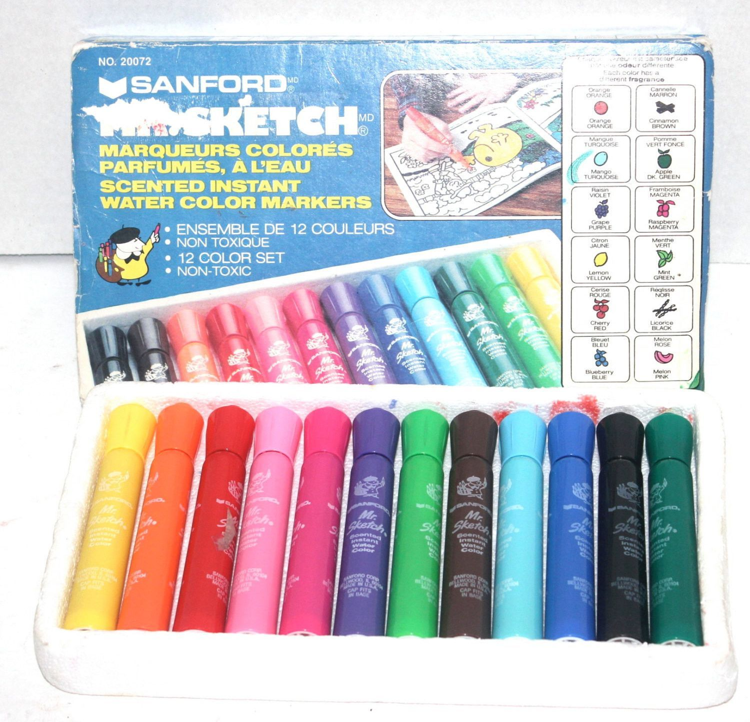 1990s Mr Sketch Scented Markers Sandford Antique Alchemy With
