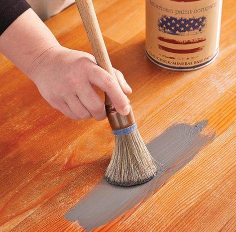 2 Recettes faciles de peinture à la craie! déco Pinterest - Comment Repeindre Un Meuble En Bois Vernis