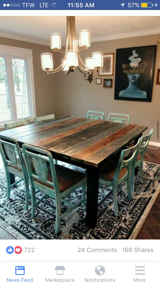Kitchen table | My (mainly) Pig farmhouse Kitchen in 2019 ...