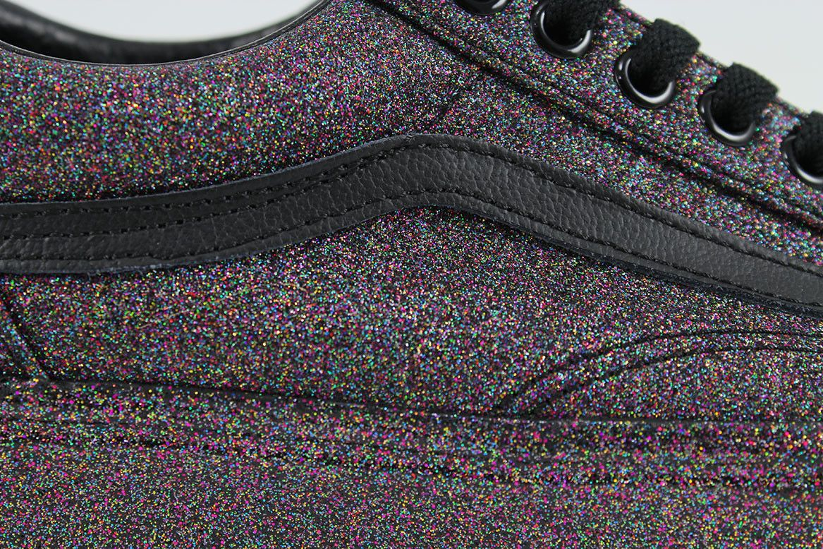 rainbow glitter vans womens