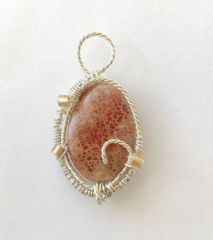 Free Tutorial - Twisted wire wrapped Jasper Stone Pendant   wire ...