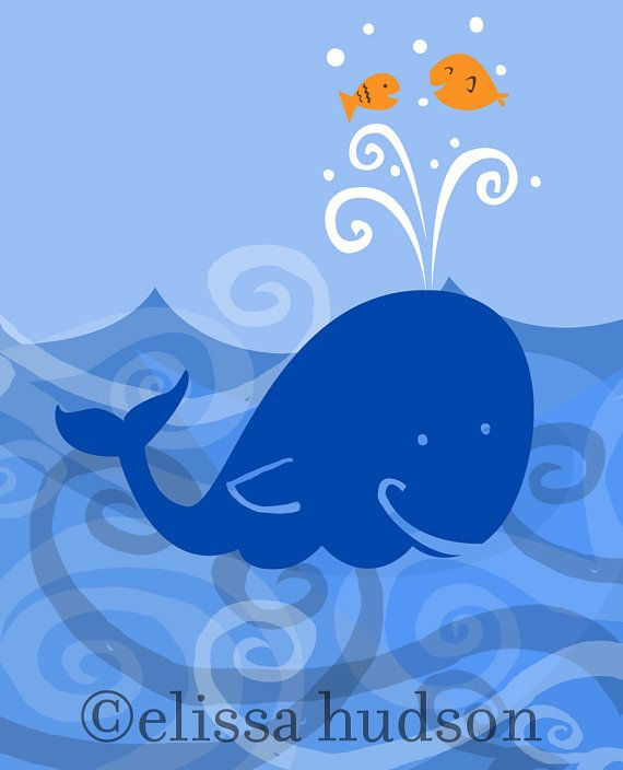 Ocean Wall Art Print Whale Octopus Boat Series By