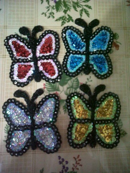 Apliques Para Murga Mariposas Bordado Apliques Cintas