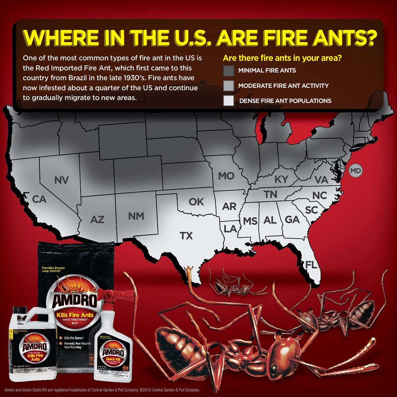 Fire Ant Map Yard Fire Ants Ants Map - Map-of-fire-ants-in-us