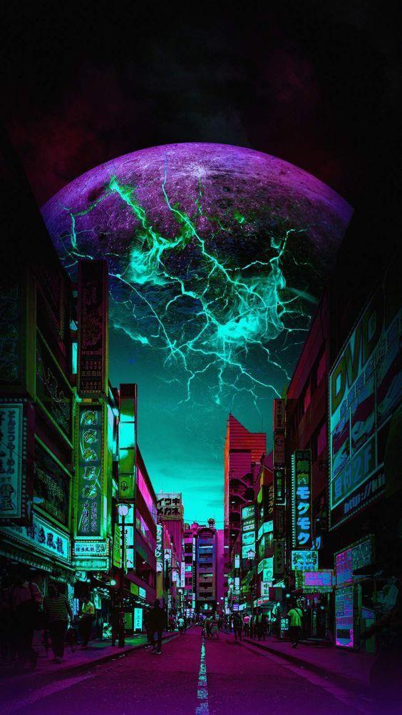 Galaxy City Walpaper