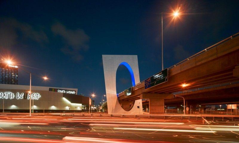 Westgate Freeway Portals lighting design by Electrolight