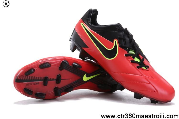 Sale Discount Nike Total90 Laser IV FG Bright Crimson-Dark Obsidian-Green  Shoes Store