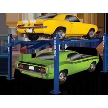 Bendpak Hd 7pxn Super Tall Narrow Four Post Lift 7 000 Lb Capacity Garage Car Lift Car Hoist Lifted Cars