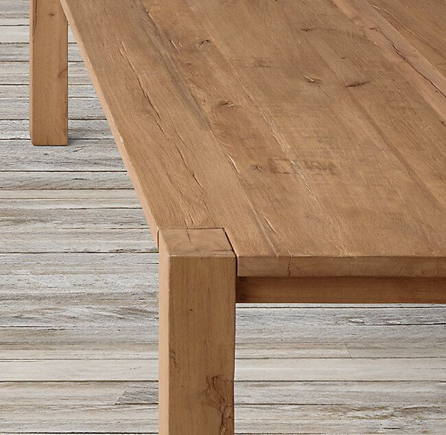 Reclaimed Russian Oak Parsons Rectangular Dining Table Vozeli Com